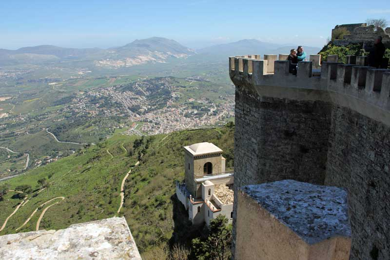 Ausblick von der Burg in Erice
