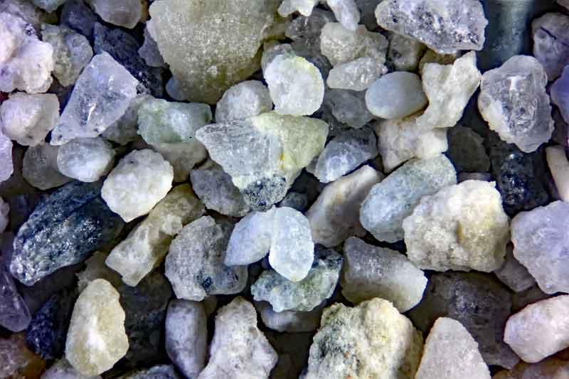 Bild 3 Sand aus Schlämmprobe aus Casas de Panes, Spanien