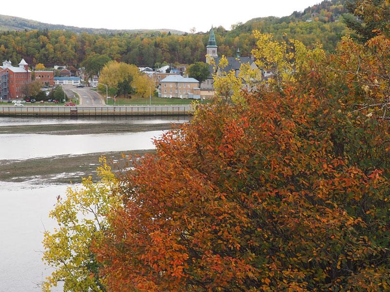Bild 3 Blick auf die Flussmündung in den St. Lorenz Strom