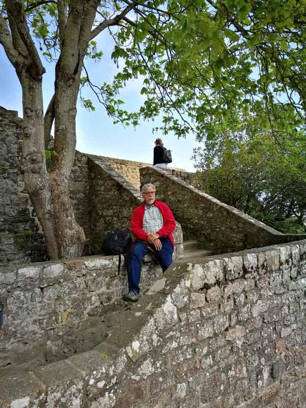 Bild 18 Nach oben zur Abtei von Mont-Saint-Michel
