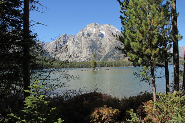 Bild 13 Der Pfad führt immer am Leigh Lake entlang, bis zu seinem Ende.