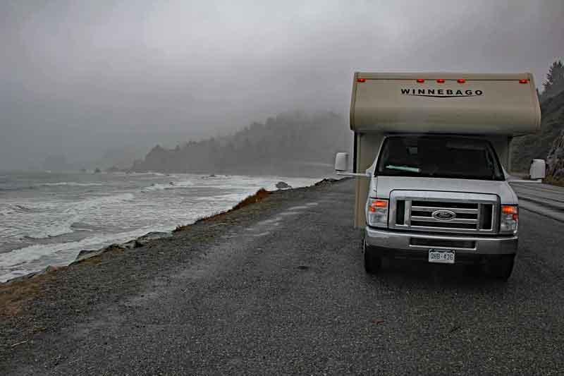 Bild 2 In Kalifornien weiter nach Eureka, leider bei regnerischem Wetter