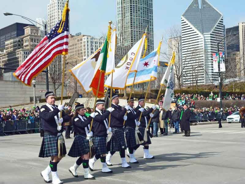 Bild 24 Parade am St. Patricks day in Chicago