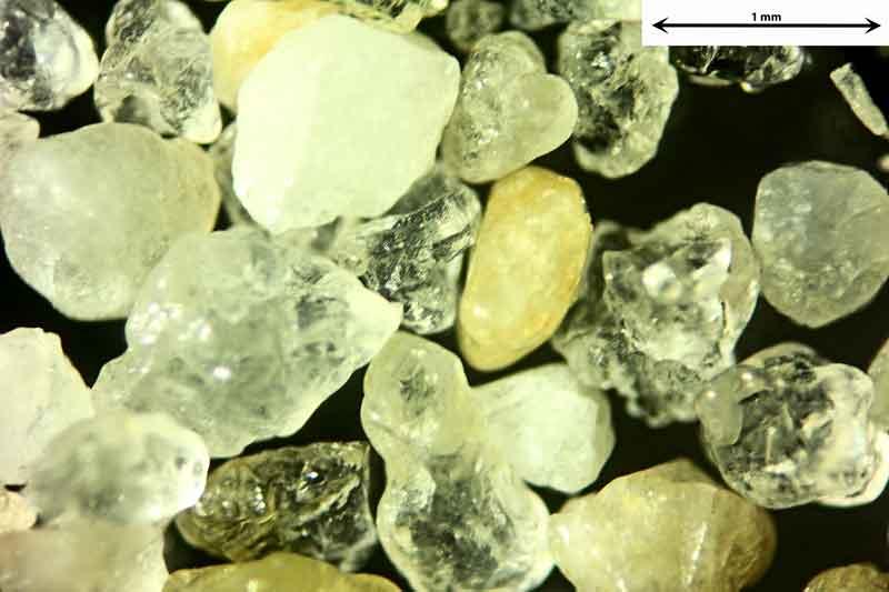 Bild 3 Sand aus Sylt-Ellenbogen/Deutschland von Meeresseite, Objektiv Zeiss Plan 2,5/o,o8 Auflicht