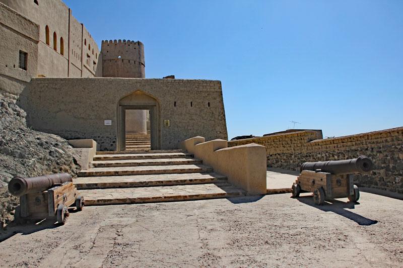 """Bild 8 Eingangsbereich der Festung """"Hisn Tamah"""""""
