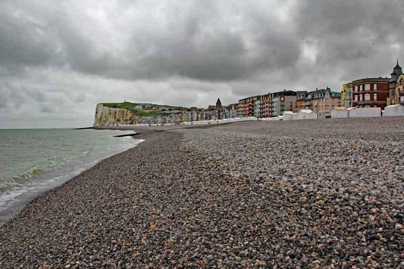 """Bild 13 Blick auf die Küste von """"Le Treport"""""""