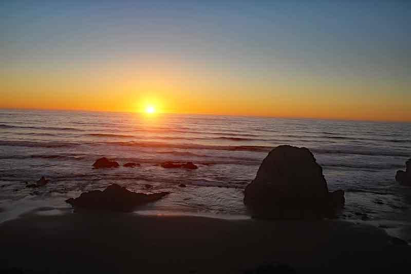 Bild 35 Sonnenuntergang beobachtet mit Sundowner