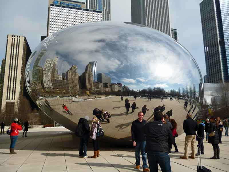 Bild 9 The Bean im Millenium Park in Chicago