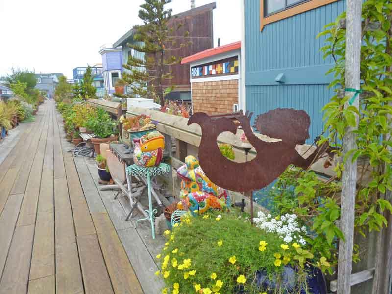 Bild 36 In der Hausbootsiedlung in Sausalito