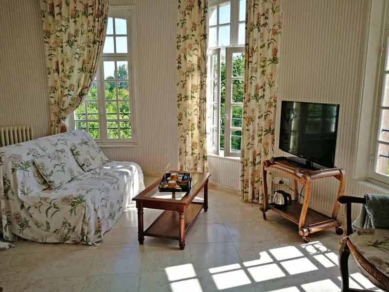 Bild 16 Unser Wohnzimmer im Chateaux de Behen