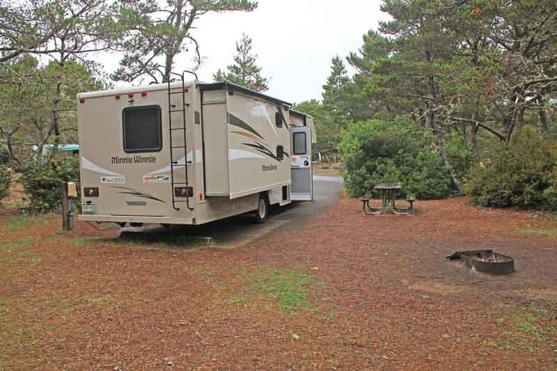 Bild 33 Unser Stellplatz auf dem South Beach Campground