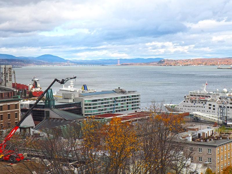 Bild 54 Bummel durch Quebec, Blick auf den St. Lorenz
