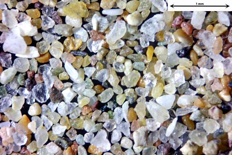 Bild 2 Sand aus Agadir/Marokko vom Strand der Atlantikküste, Objektiv Zeiss Plan 2,5/o,o8 Auflicht