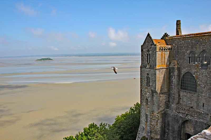 Bild 24 Blick von der Abtei auf das Watt und das Meer