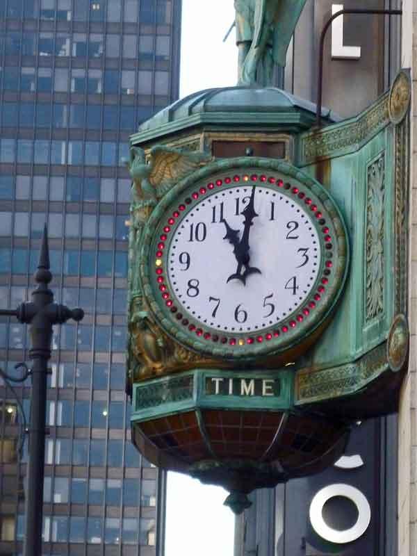 Bild 5 Alte Uhren in den Straßen vob Chicago