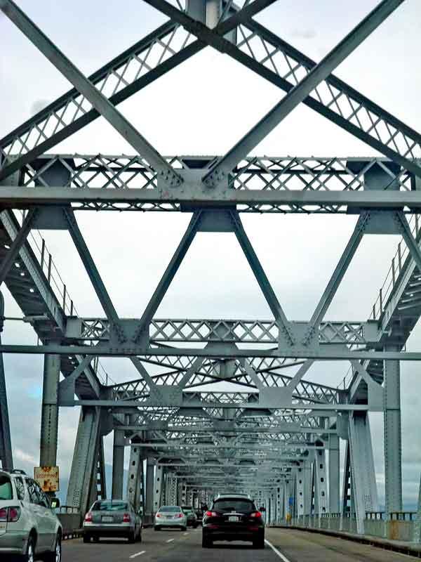 Bild 3 Fahrt über die Richmond San Rafael Bridge in Richtung Tiburon