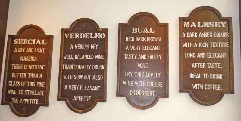 Bild 4 Die Geschmacksrichtungen des Sherrys