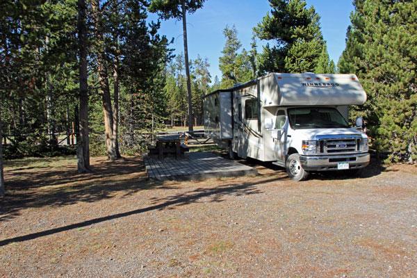 """Bild 22 Standplatz auf dem """"Madison Campground"""""""