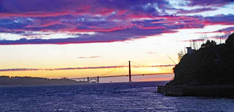 Bild 40 Blick am Abend auf Golden Gate