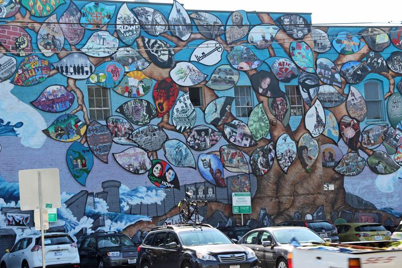 Bild 4 Mural auf dem Weg zum Farmers Market in Olympia