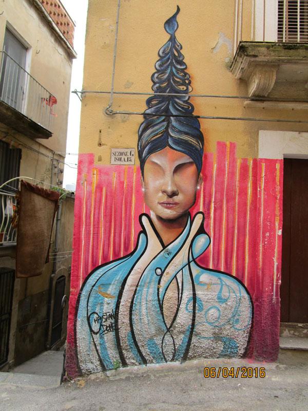 Straßenkunst in Caltagirone