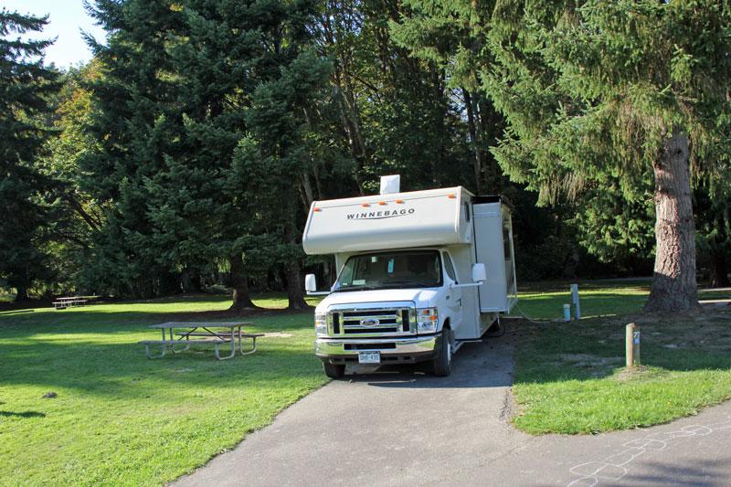 Bild 11 Unser Stellplatz auf dem Dosewallip State Park Campground