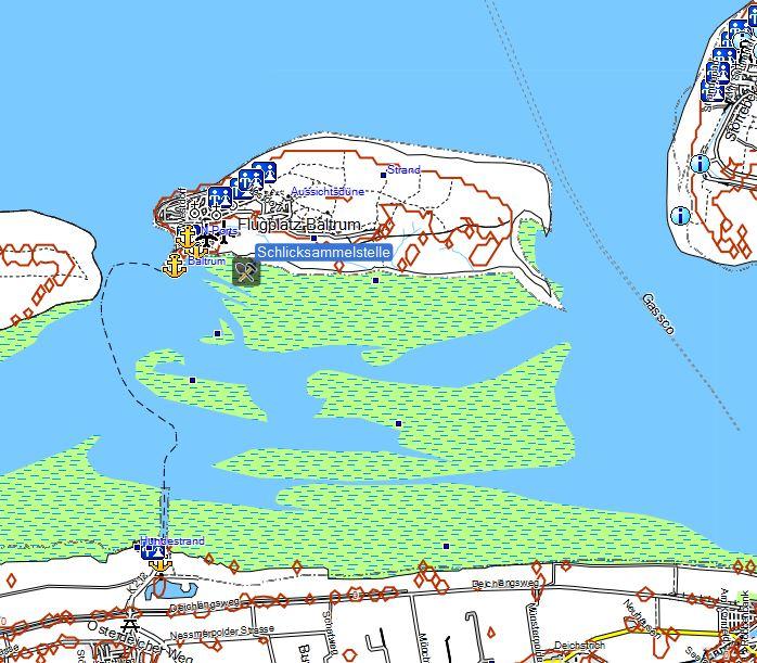 Bild 1 Fundstelle des Wattschlicks