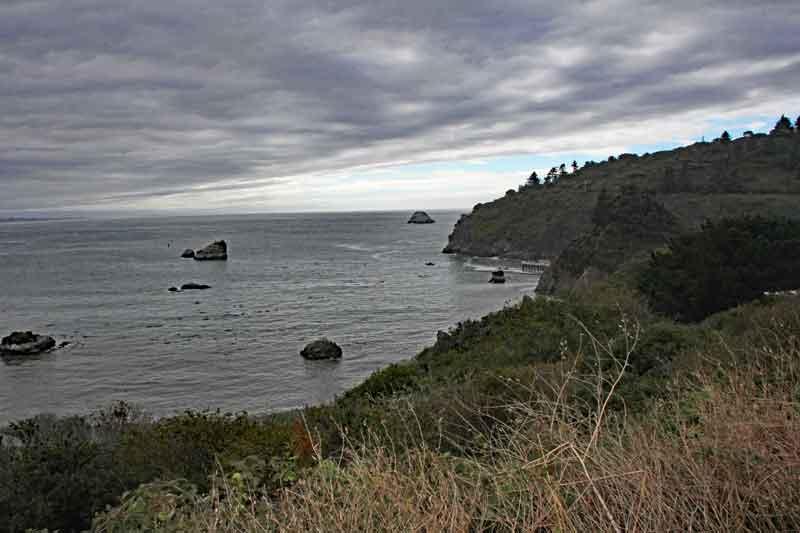 Bild 4 In Kalifornien weiter nach Eureka, leider bei regnerischem Wetter