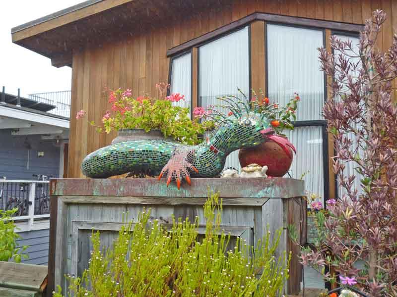 Bild 28 In der Hausbootsiedlung in Sausalito