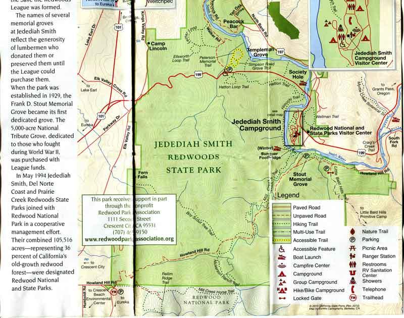 Bild 18 Prospekt vom Jedediah National Park mit Campground