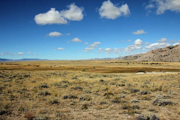 Bild 6 Blick auf das weite Tal, man kann sich hier gut den Siedler-Track vorstellen