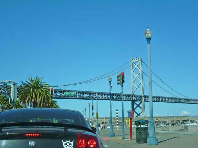 Bild 1 Fahrt nach San Francisco am Morgen