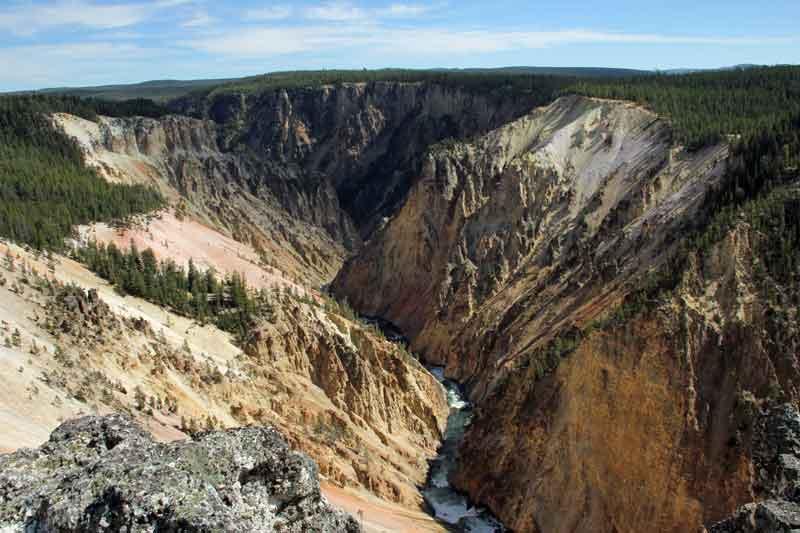"""Bild 10 Yellowstone, am Yellowstone """"Grand Canyon"""""""