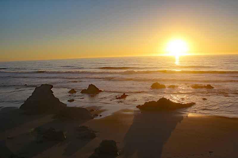 Bild 33 Sonnenuntergang beobachtet mit Sundowner