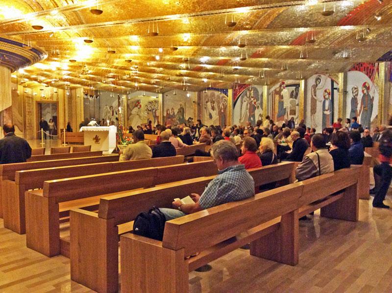 In der Kirche von Pater Pio in San Giovanni di Rotondo