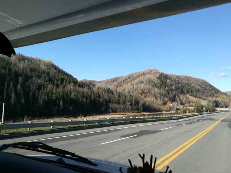 Bild 2 Auf der Fahrt in Richtung Quebec