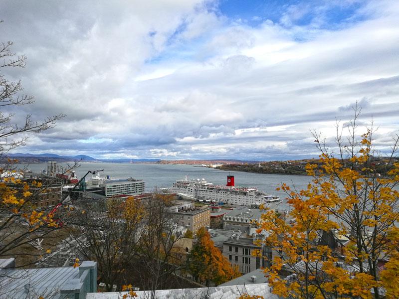 Bild 59 Bummel durch Quebec, Blick auf den St. Lorenz