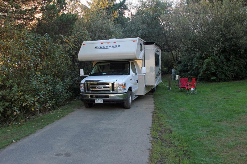 Bild 13 Unser Stellplatz auf dem Ocean City Campground