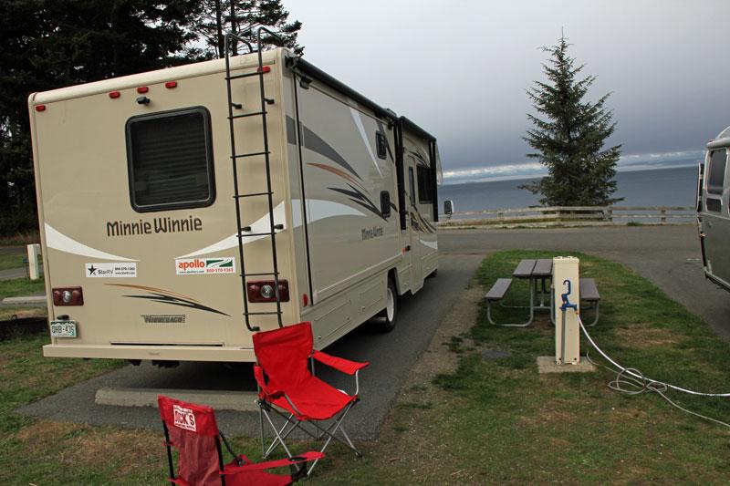 Bild 21 Unser Stellplatz für heute auf dem Salt Creek Campground
