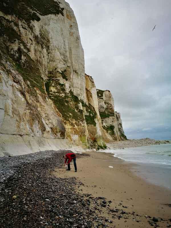 """Bild 18 An der Steilküste von """"Le Treport"""""""