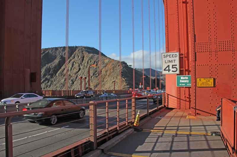 Bild 58 Auf der Golden Gate Brücke
