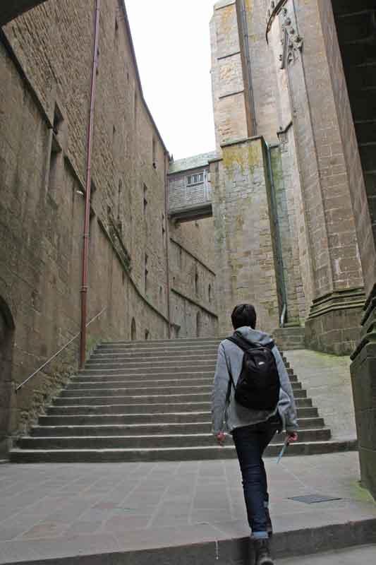 Bild 20 Nach oben zur Abtei von Mont-Saint-Michel