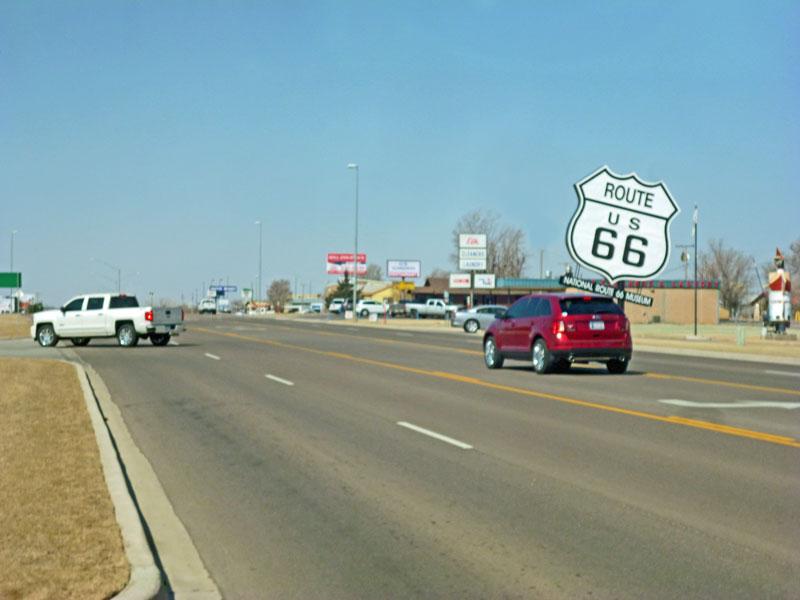 """Bild 1 Auf der """"Historic Route 66"""""""
