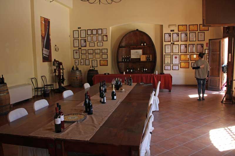 Probierzimmer  im Weingut Caruso & Minini für Marsala Wein