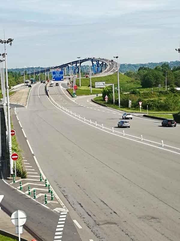 Bild 4 Brücke über die Seine bei Honfleur in der Normandie