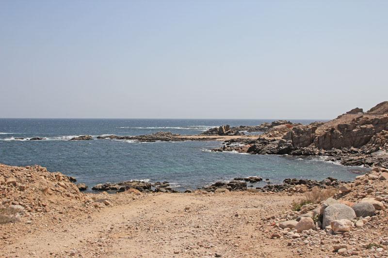 Bild 2 Pause und Füße baden auf dem Weg in Richtung Muscat