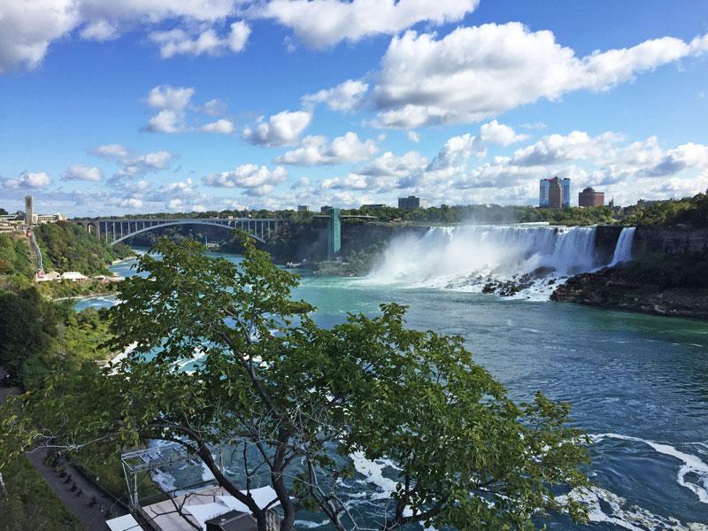 Bild 7 Blick auf den USA Teil der Niagara Fälle