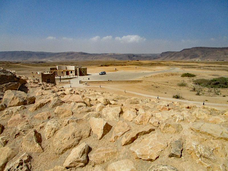 Bild 12 Blick auf den Parkplatz am Ausgrabungsort Samhuram (Khor Rori)