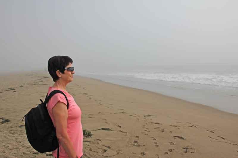 Bild 12 Wir sind wieder am Meer - Blick in den lichten Nebel