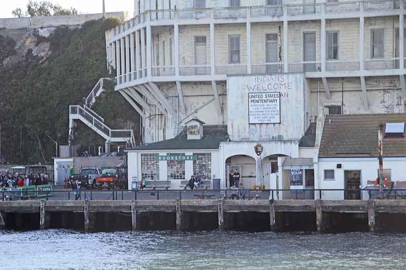 Bild 18 Blick auf die Anlegestelle von Alcatraz